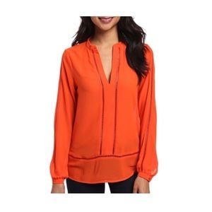 Michael Kors Mandarin Orange Blouse